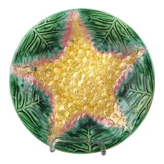 Majolica Starfish Plate For Sale