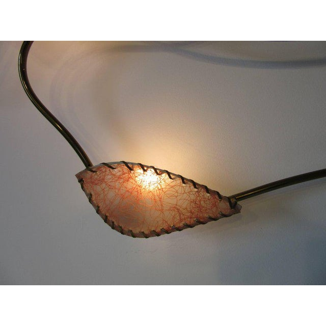 1950s Rare Brass Sculptural Wall Light by Majestic For Sale - Image 5 of 9
