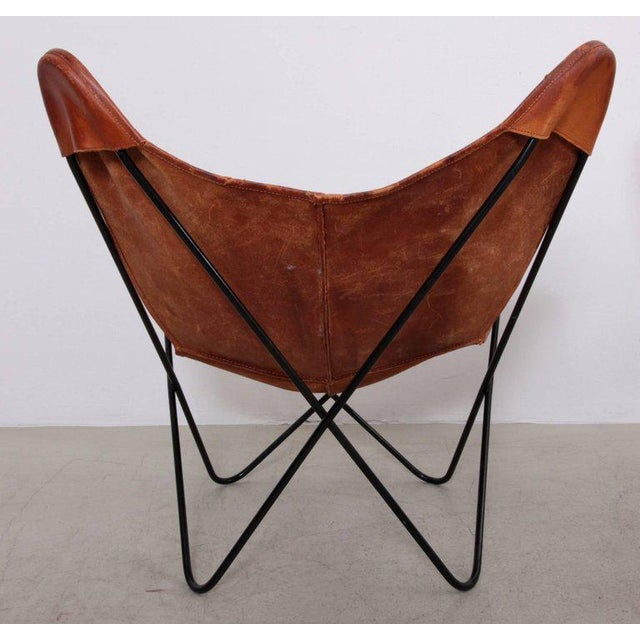 Animal Skin Rare Matched Pair of Ferrari Hardoy Butterfly Chairs for Knoll For Sale - Image 7 of 9