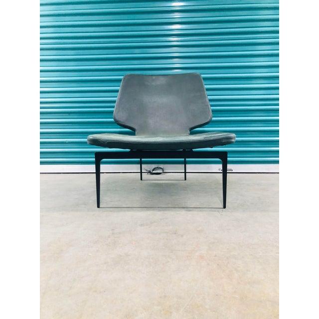 Animal Skin Modern Roberto Lazzeroni of Lema Italian Leather Lounge Chair For Sale - Image 7 of 7