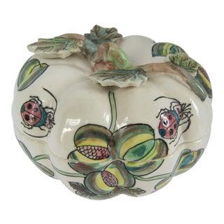 Vintage Chinoiserie Porcelain Pumpkin From Charles Willis Atlanta For Sale