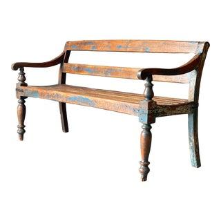 Primitive Wood Bench For Sale