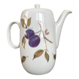 Royal Worcester Evesham Gold Coffee Pot With Lid