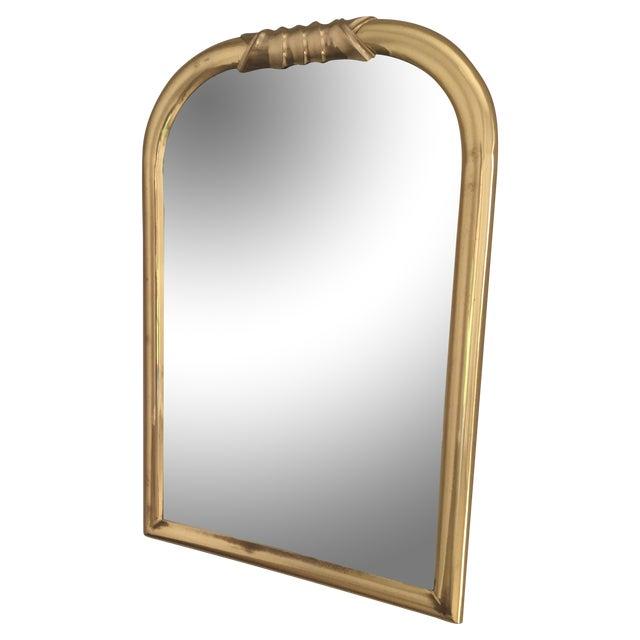 Hollywood Regency Brass Framed Mirror For Sale