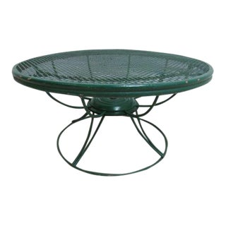 HomeCrest Revolving Outdoor Coffee Table For Sale