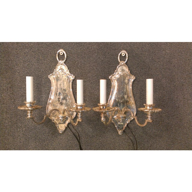Early 20th Century Edward F. Caldwell Silver Plated Wall Sconces - A Pair - Image 2 of 11