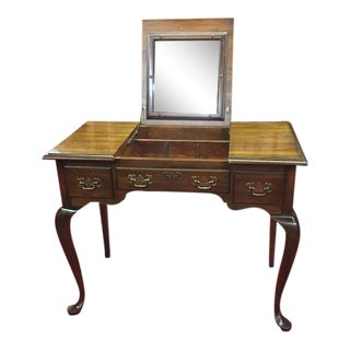 Vintage Pennsylvania House Cherry Vanity With Mirror For Sale