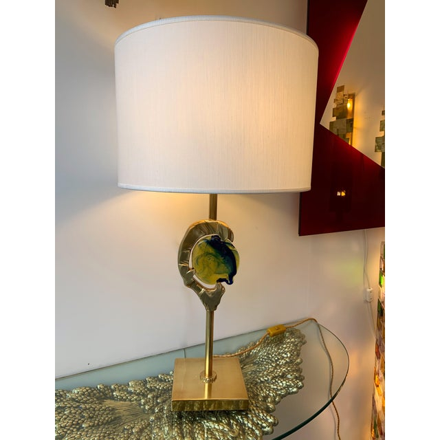 Brass Murano Glass Lamps by Esperia Italy, 1990s - a Pair For Sale - Image 6 of 12
