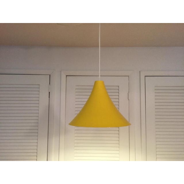 Metal 1960s Vintage Yellow Pendant Lamp For Sale - Image 7 of 7