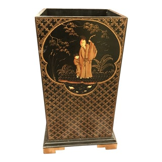 20th Century Chinoiserie Hand Painted Umbrella Stand/Table Base For Sale