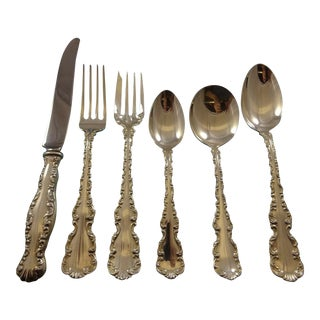 Louis XV by Gorham Whiting Sterling Silver Flatware Set for 12 Service 76 Pieces For Sale
