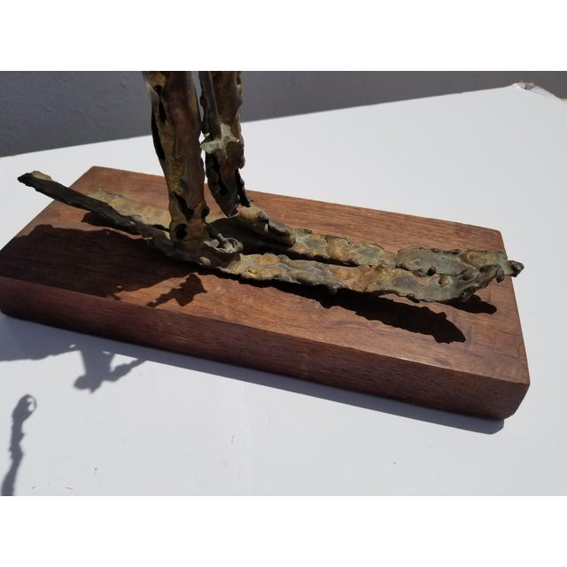 Copper 1970s Brutalist Art Torch Copper Table Sculpture For Sale - Image 7 of 10