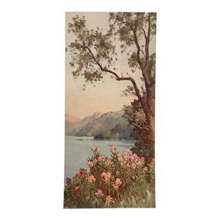 1905 Original Italian Print - Italian Travel Colour Plate - Lago DI Lecco, Lago DI Como For Sale