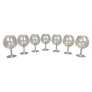 Hand Blown Brandy Snifters - Set of 7 For Sale