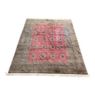 1980s Wool Bokara Rug - 7′1″ × 10′ For Sale