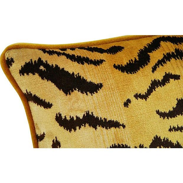 Scalamandre Le Tigre & Mohair Pillow - Image 2 of 5