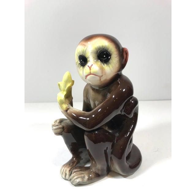 Mid-Century Tilso Ceramic Monkey Figurine For Sale - Image 9 of 10
