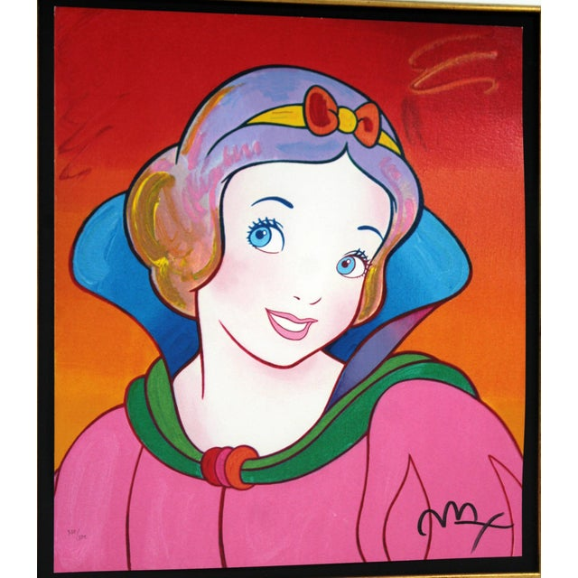 Contemporary Contemporary Framed Print Snow White Signed Dated Numbered by Peter Max 1990s For Sale - Image 3 of 7