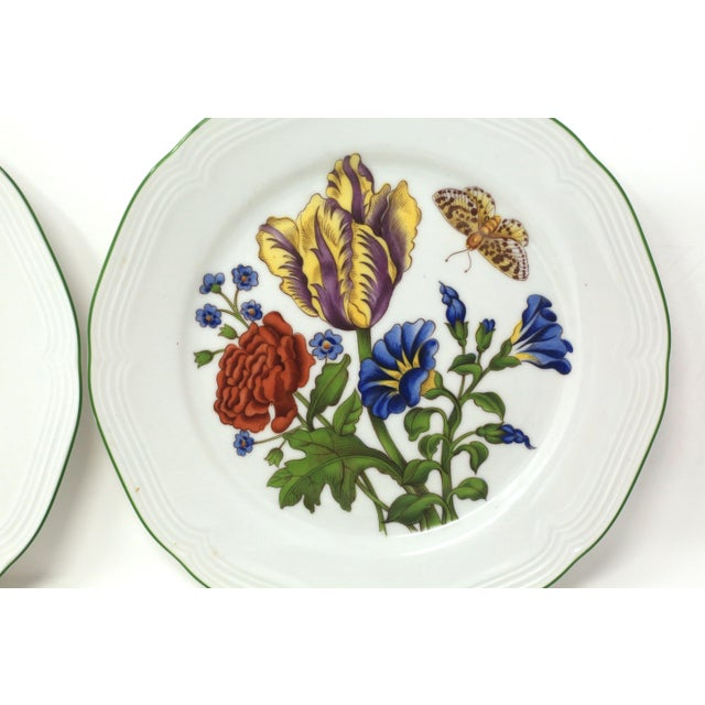 Vintage Bavarian China Floral Salad Plates by Bareuther - Set of 6 For Sale In Tampa - Image 6 of 12