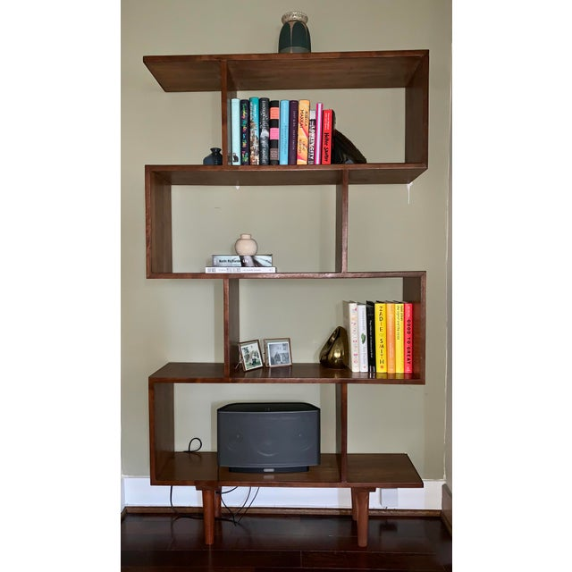 Mid-Century Modern Mid Century Modern Walnut Bookshelves - A Pair For Sale - Image 3 of 5