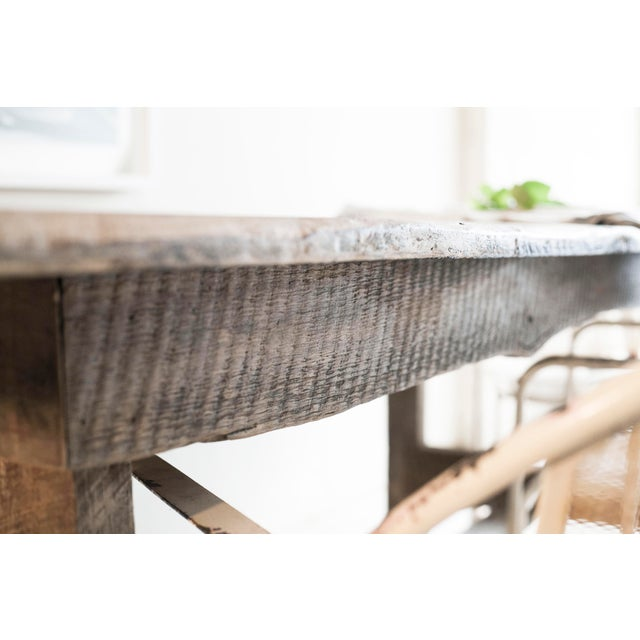 Custom French Farmhouse Dining Table of Reclaimed Barn Wood. For Sale - Image 4 of 10