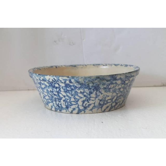 19th Century Spongeware Serving Bowl For Sale - Image 4 of 6