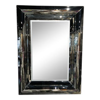 Contemporary Thick Beveled Pier Mirror For Sale
