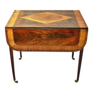 18c Sheraton Period George III Pembroke Table For Sale