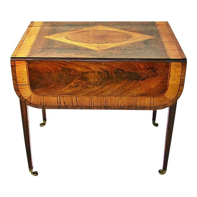 18c Sheraton Period George III Pembroke Table For Sale