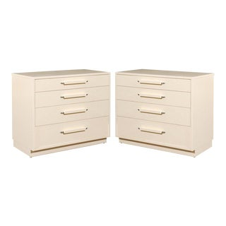 Restored Pair of Chests by Eliel Saarinen for Johnson Furniture, circa 1948 For Sale