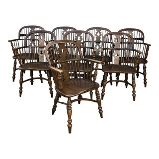 Vintage Conant Ball Dining Room Chairs - Set of 8 For Sale