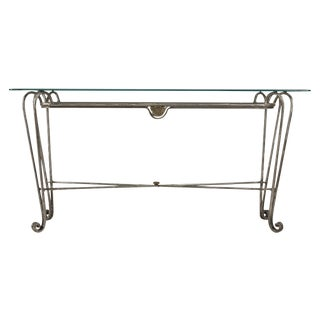 Industrial Stainless Steel Console Table For Sale