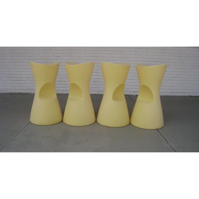 Yellow Skoop Stools by Karim Rashid - Set of 4 For Sale - Image 10 of 11