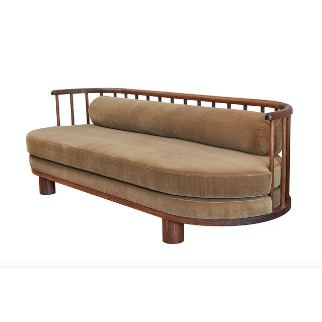 """This hand-crafted sculptural sofa is a staple in the """"Casey McCafferty,"""" for Martin & Brockett line. The concept for the..."""