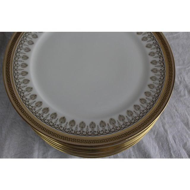 Cauldon Cauldon White & Gold Lunch Plates - Set of 10 For Sale - Image 4 of 6