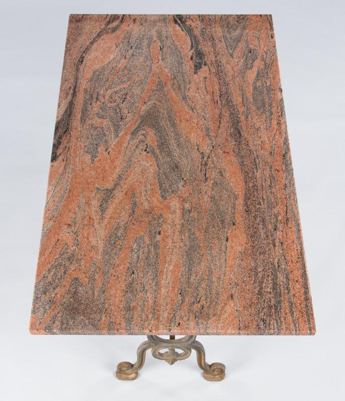 French Granite Top Bistro Table With Iron Base, 1920s   Image 8 Of 11