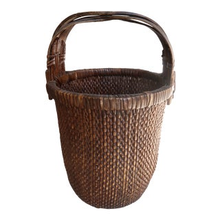 Antique Chinese Rice Basket For Sale