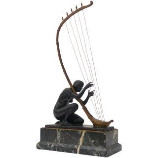 Art Nouveau Transition Bronze Sculpture by Hans Muller For Sale