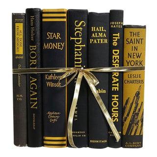 Vintage Black & Yellow Gift Set of Seven Decorative Books