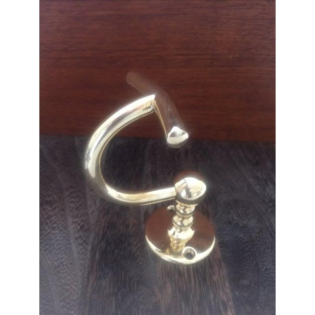 "Waterworks ""Etoile"" Unlacquered Brass Single Hook - Image 7 of 11"