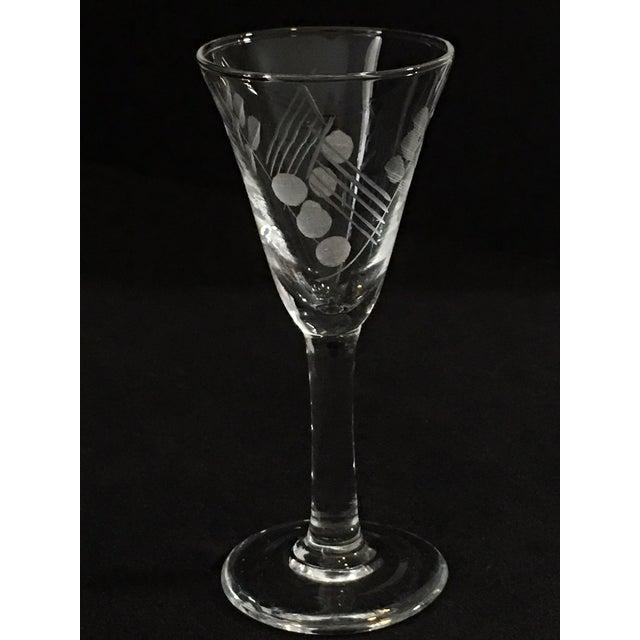 Vintage Etched Shot Glasses - Set of 12 - Image 8 of 9