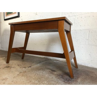 Vintage Mid Century Modern Foyer Table With Storage. Preview