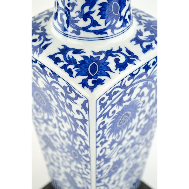 Blue & White Chinoiserie Vase Lamp - Image 6 of 8