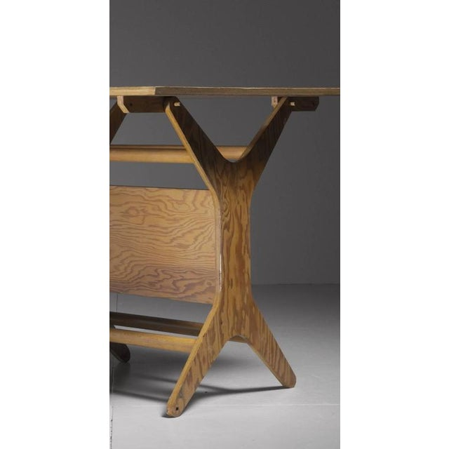 Klaus Grabe Rare Height-Adjustable Dining or Coffee Table, USA, 1950s For Sale - Image 6 of 6