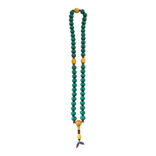 Nepalese Turquoise /Amber Prayer Beads For Sale