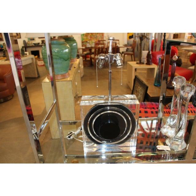 Felice Antonio Botta Lucite Lamp For Sale - Image 9 of 10