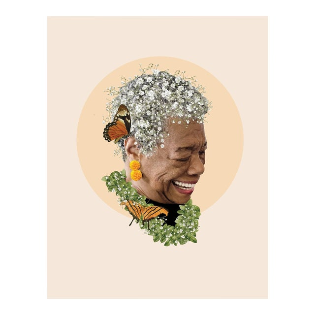 'Maya as Gaia' Original Collage Print by by Rochelle Sodipo For Sale