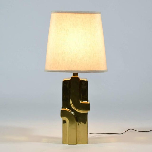1970s Brass Table Lamp For Sale In Chicago - Image 6 of 9