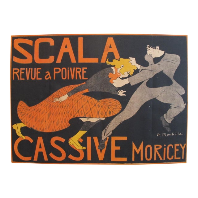 1903 French Belle Epoque Poster, Revue a Poivre For Sale