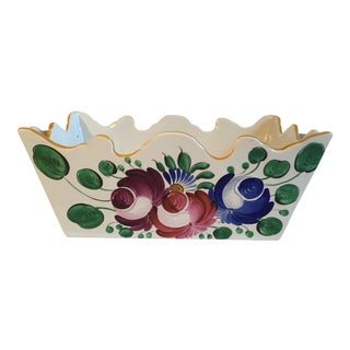 1900s Vintage French Faience Signed St. Clement Planter For Sale